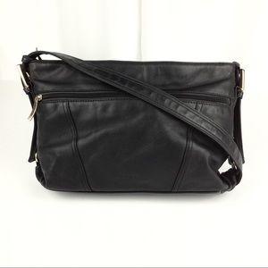 Stone & Co Leather Shoulder Bag Black